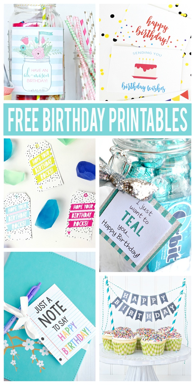 Free Birthday Printables - Eighteen25 - Free Printable Birthday Tags