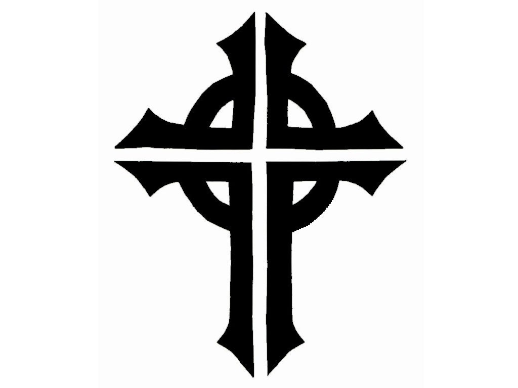 Free Black And White Cross Tattoo, Download Free Clip Art, Free Clip - Free Printable Cross Tattoo Designs