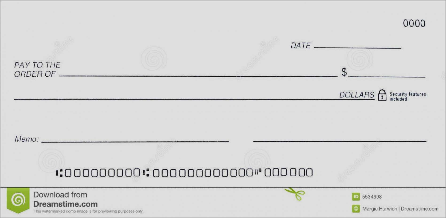 Free Blank Business Check Template Inspirational 7 Best Of Printable - Free Printable Blank Checks