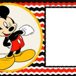 Free-Blank-Mickey-Mouse-1St-Invitation-Chevron-Template – Drevio – Free Mickey Mouse Printable Templates