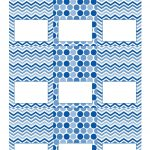 Free Blue And White Printable Tent Cards | Free Printables | Party   Free Printable Food Tent Cards
