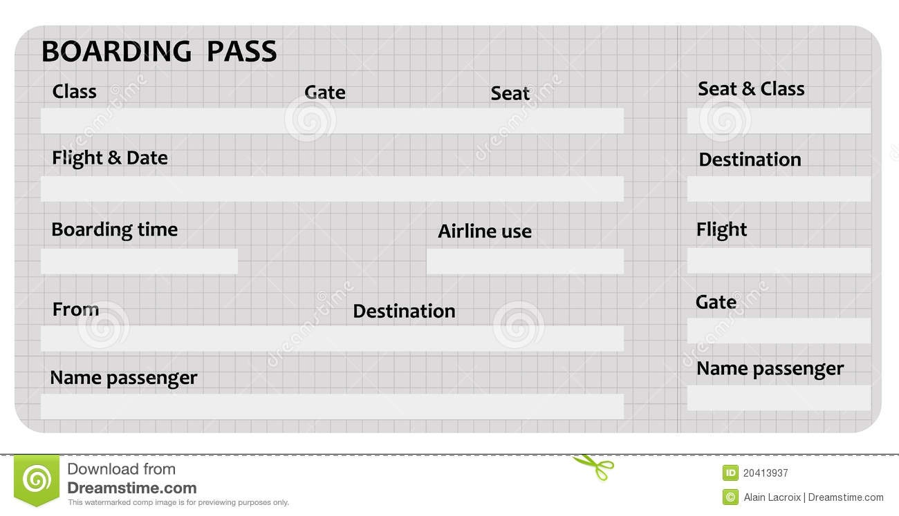 Free Boarding Pass Cliparts, Download Free Clip Art, Free Clip Art - Free Printable Boarding Pass