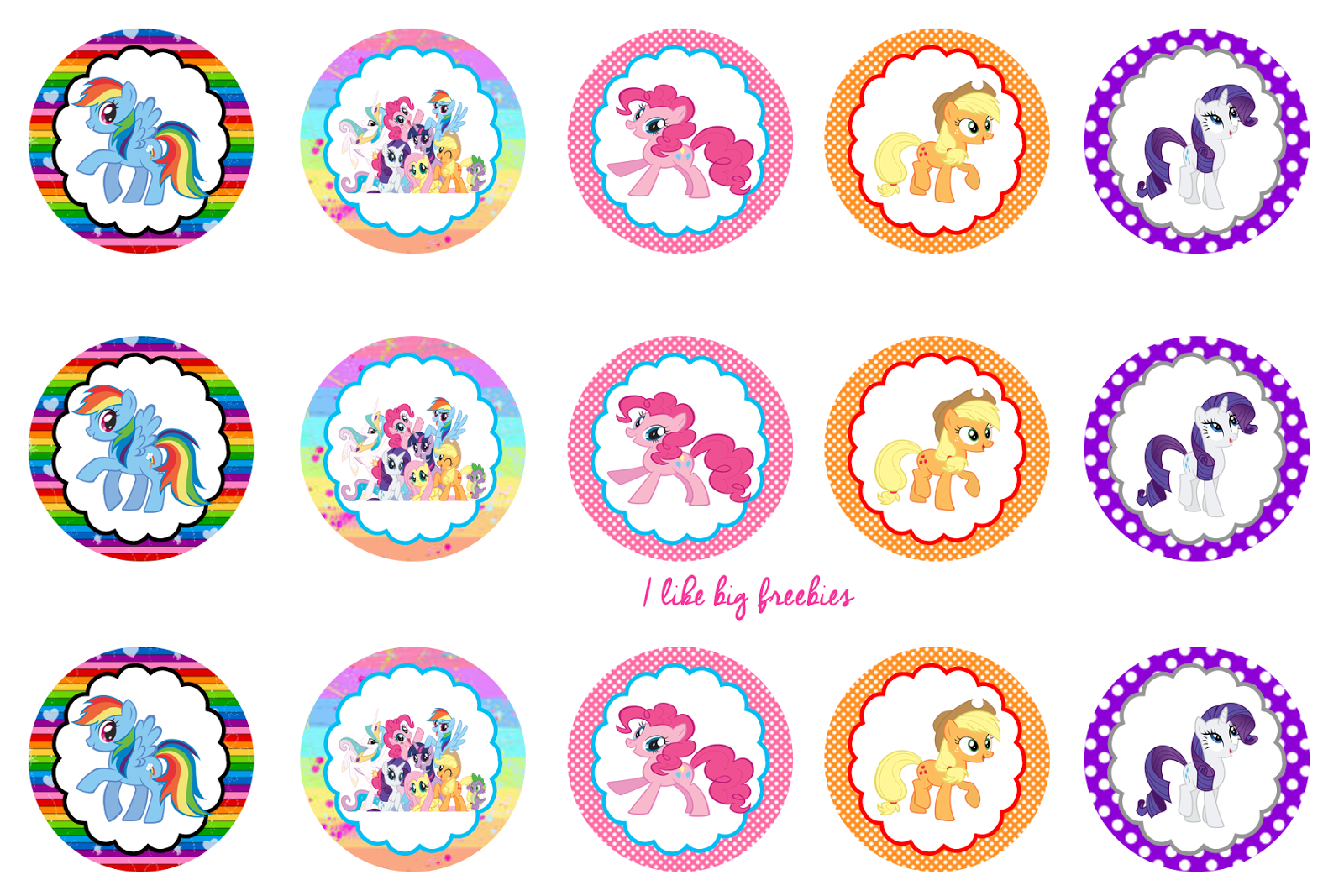 Free Bottle Cap Printables   My Little Pony Cupcake Ideas My Little - Free Printable My Little Pony Cupcake Toppers