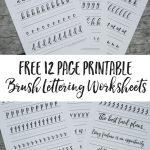 Free Brush Lettering Worksheets   Free Printable Calligraphy Worksheets