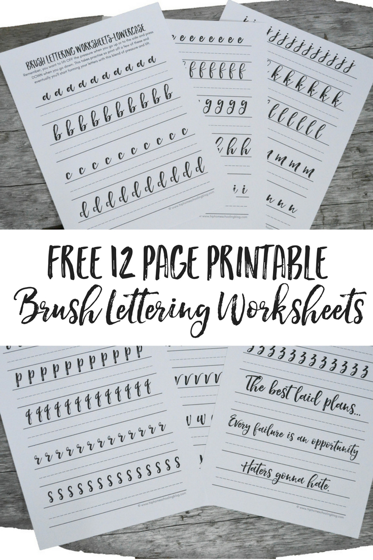 Free Brush Lettering Worksheets - Free Printable Calligraphy Worksheets