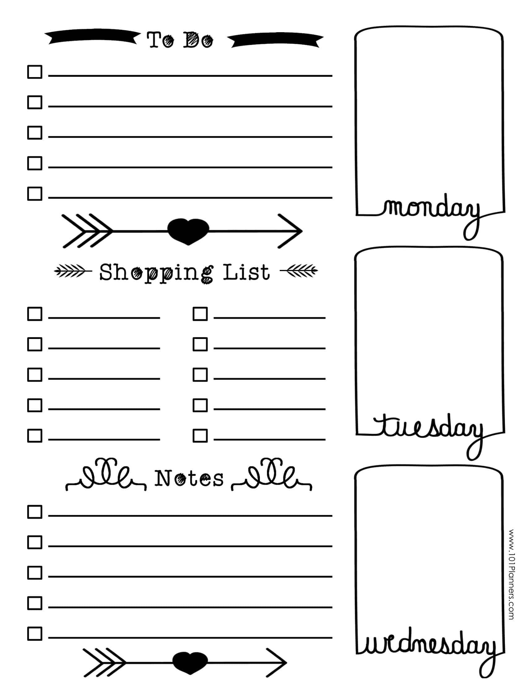 Free Bullet Journal Printables | Customize Online For Any Planner Size - Free Printable Journal Templates