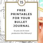 Free Bullet Journal Printables February 2017   Wundertastisch   Free Printable Bullet Journal Pages