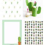 Free Cactus Printables   Kaktus   Round Up | Printables | Classroom   Free Printable Cactus