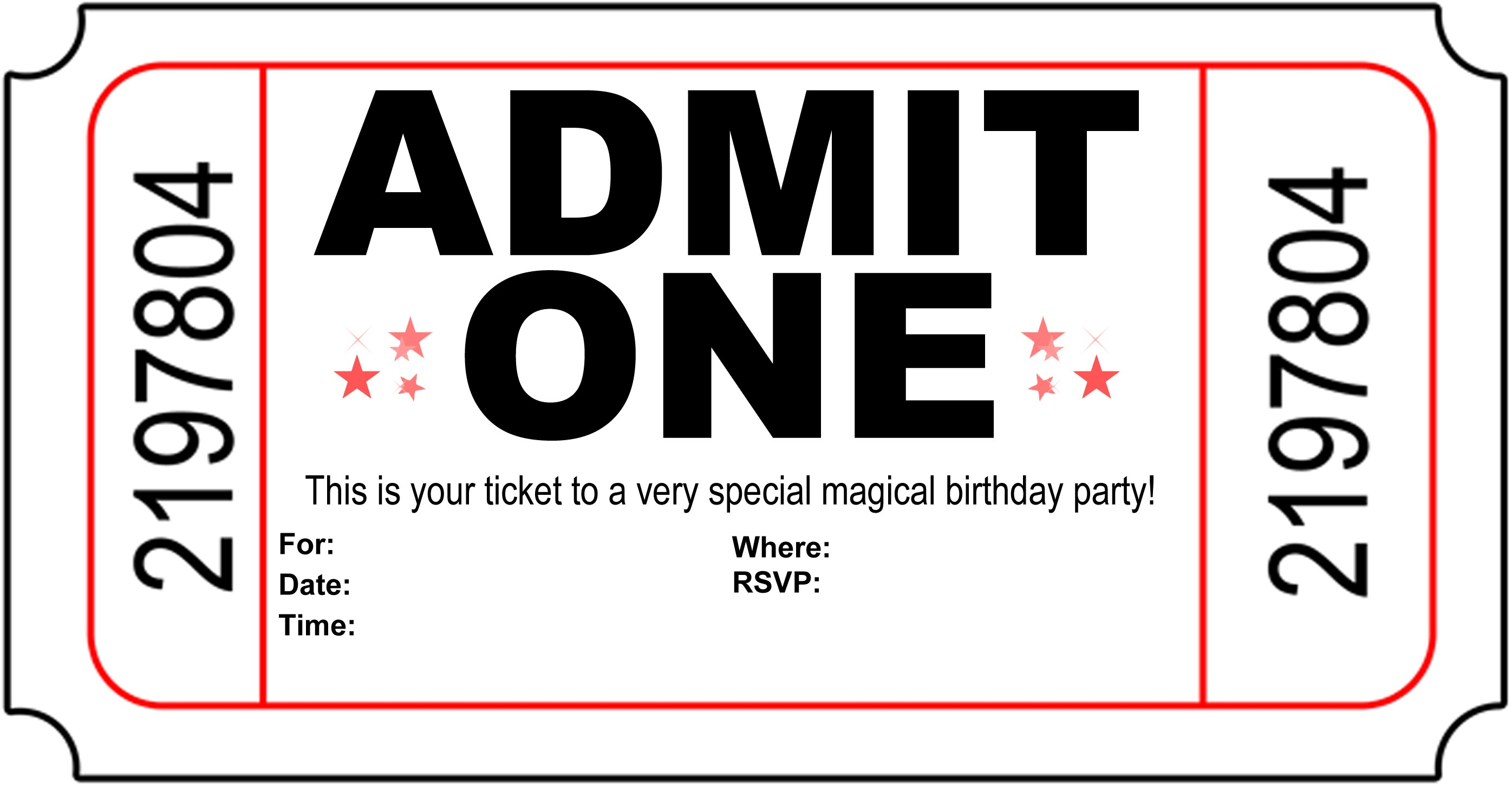 Free Carnival Ticket Invitation Template, Download Free Clip Art - Printable Invitation Templates Free Download