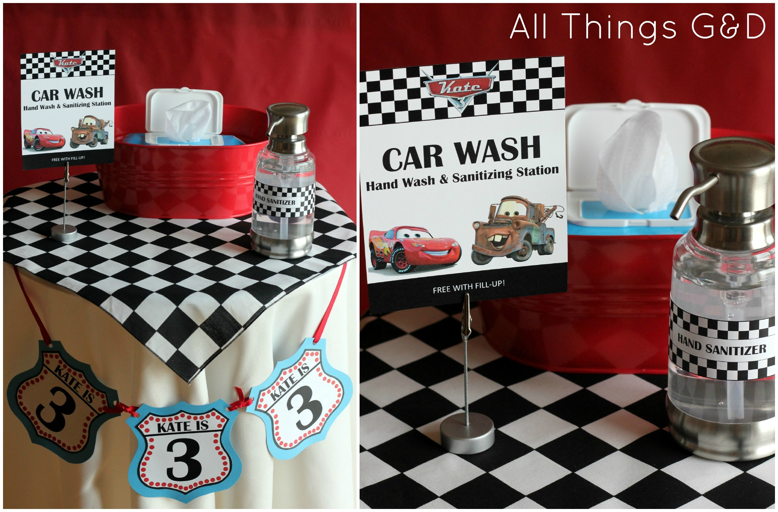 Free Cars Birthday Party Printables - Free Printable Cars Food Labels