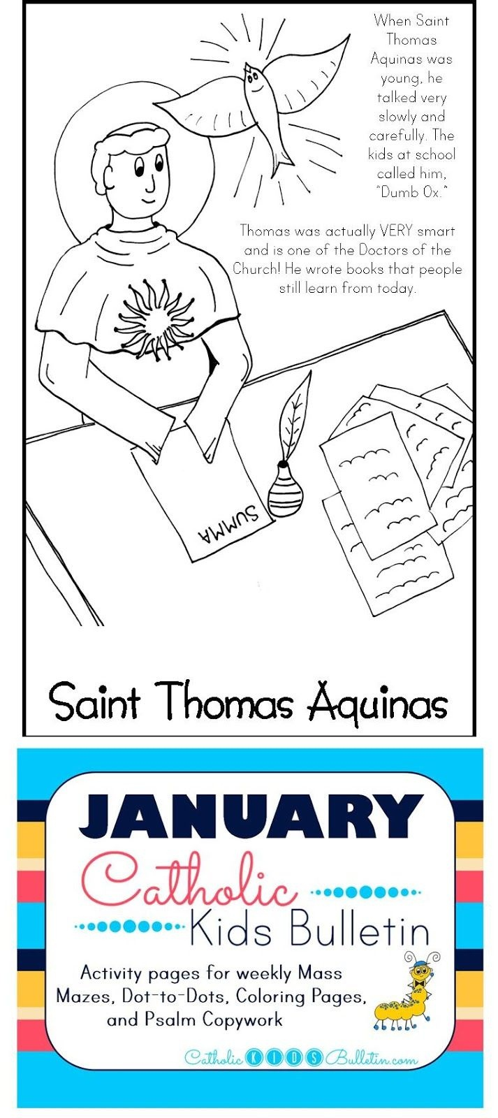Free Catholic Mass Bulletins And Coloring Pages! Saint Thomas - Free Printable Catholic Mass Book