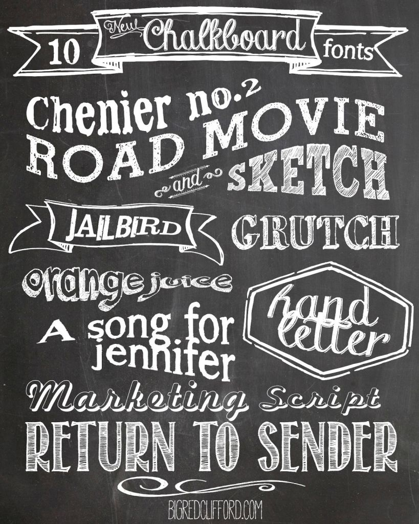 Free Chalkboard Fonts And Free Printable   Scrapbooking   Chalkboard - Free Printable Fonts No Download