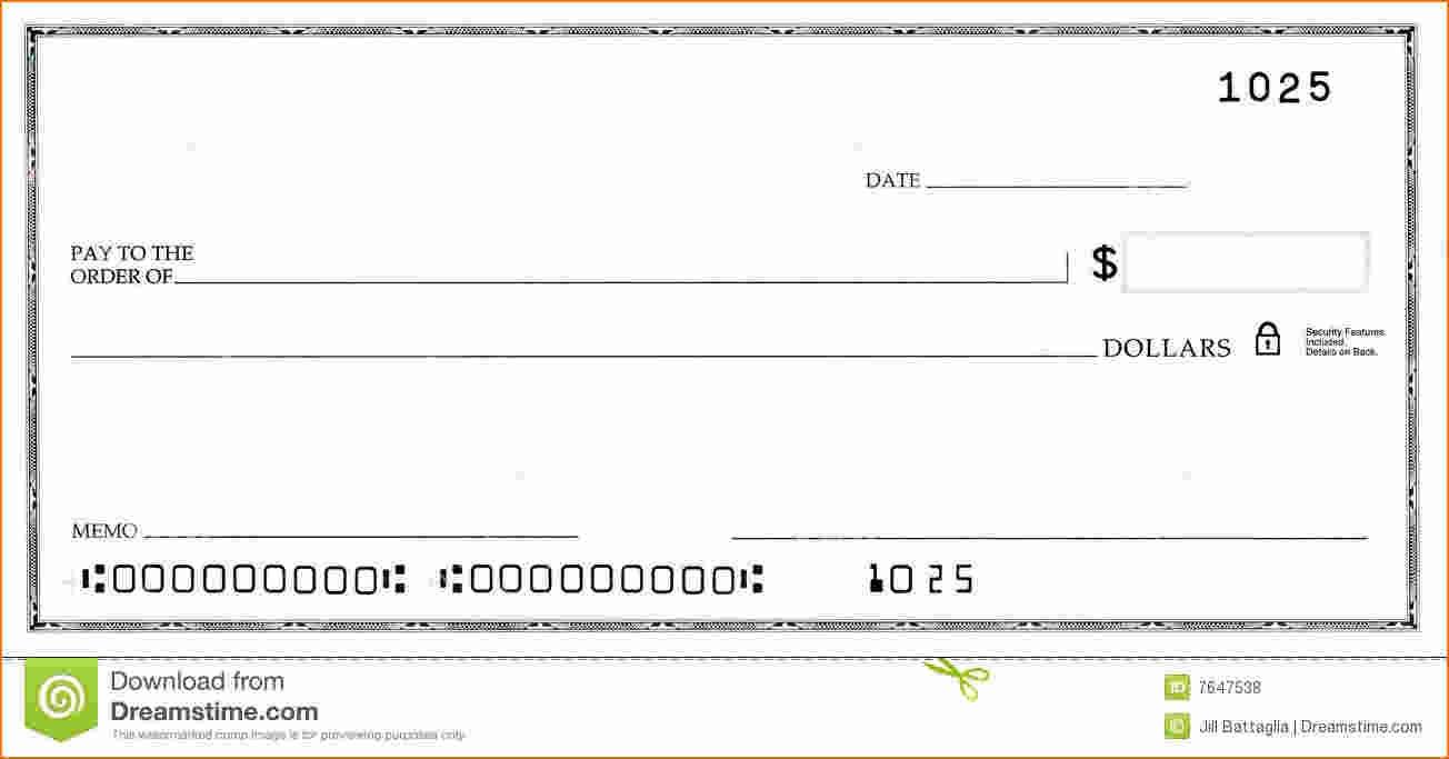Free Check Template Word - Tutlin.psstech.co - Free Printable Blank Checks