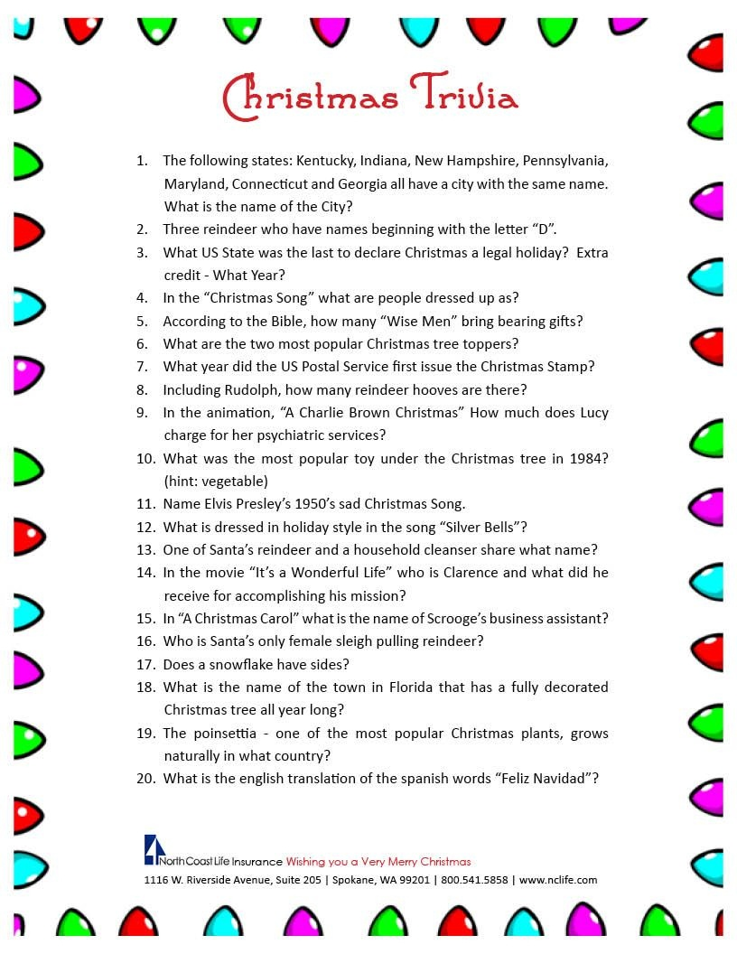 Free Christmas Bingo Free Printable - Google Search | Christmas - Kwanzaa Trivia Free Printable