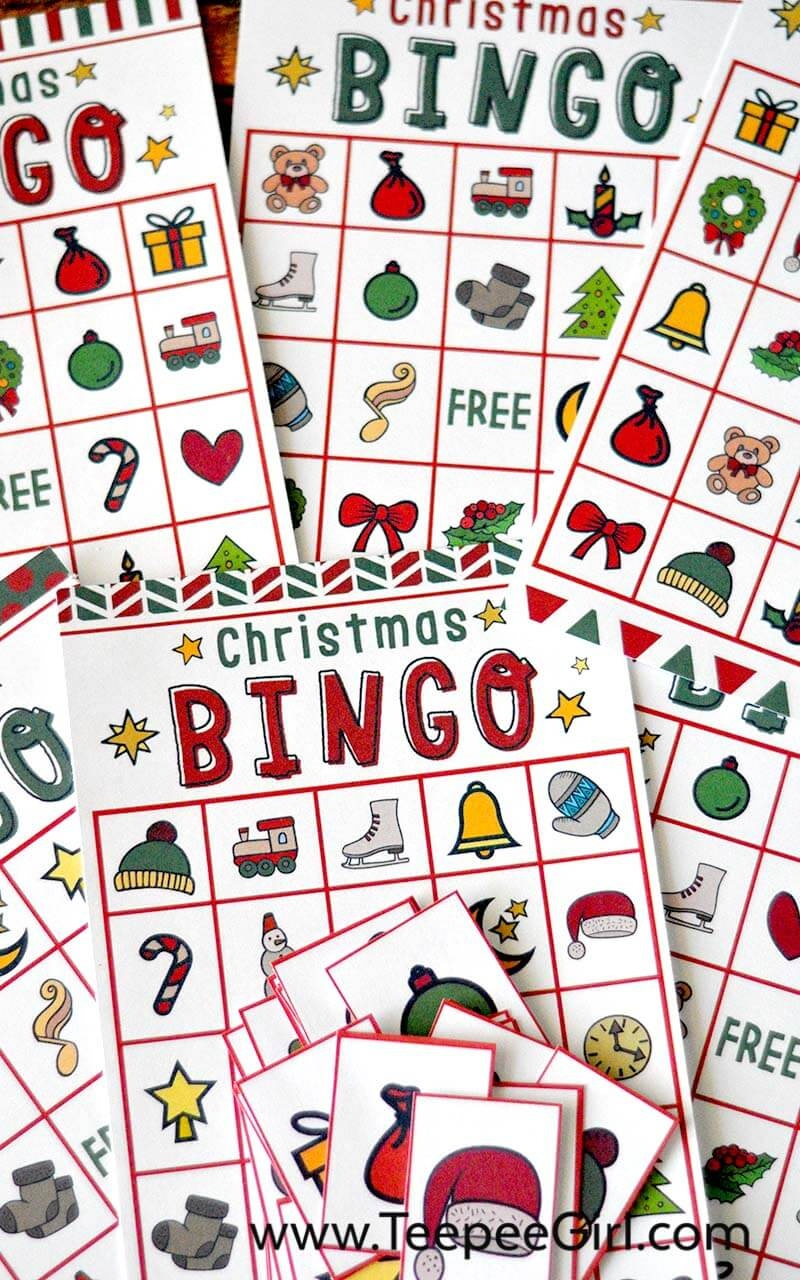 graphic relating to Free Printable Christmas Bingo Cards known as Xmas Bingo Recreation Absolutely free Printable - Present Of Fascination