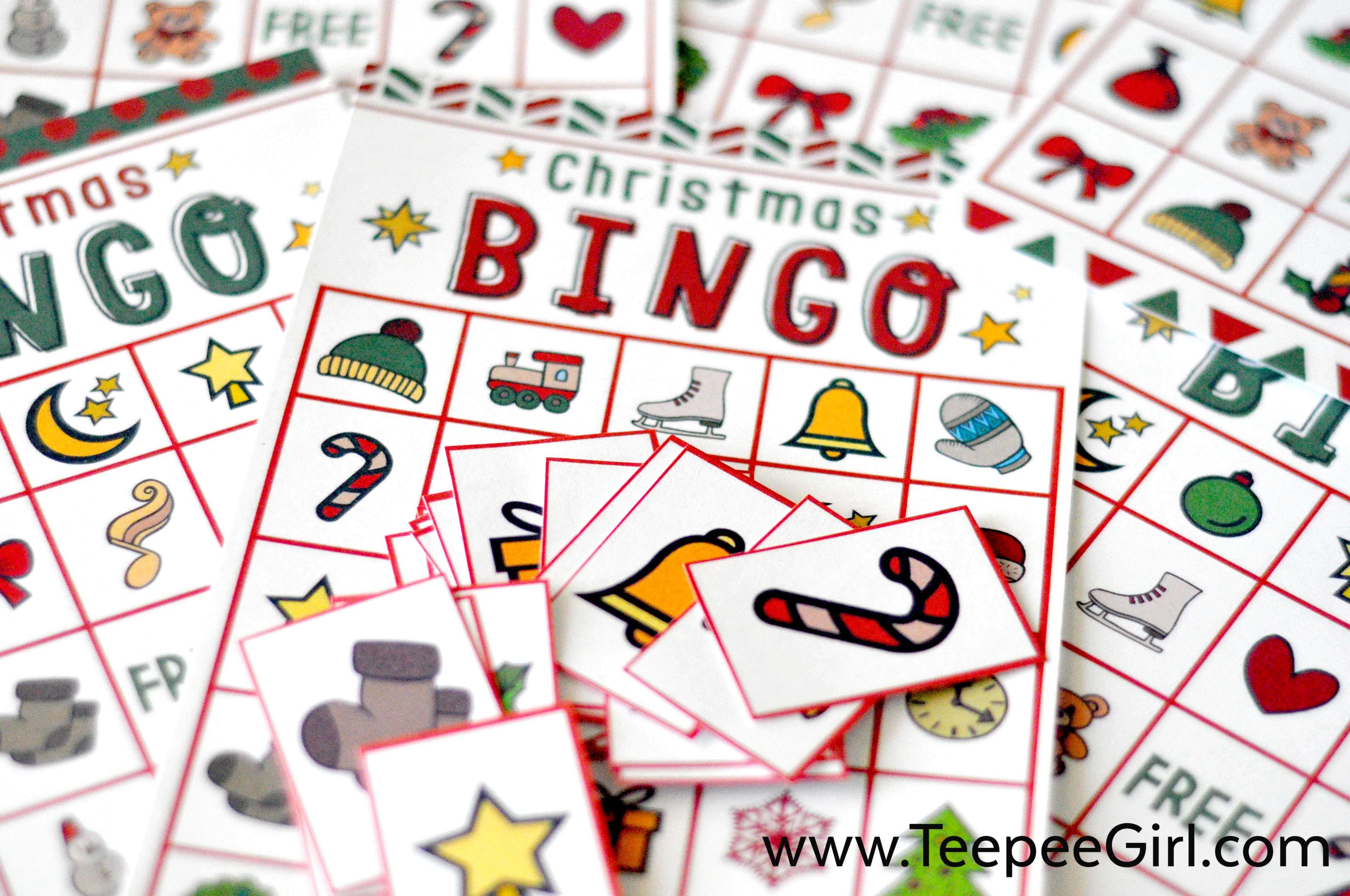 Free Christmas Bingo Game Printable - Free Christmas Bingo Game Printable