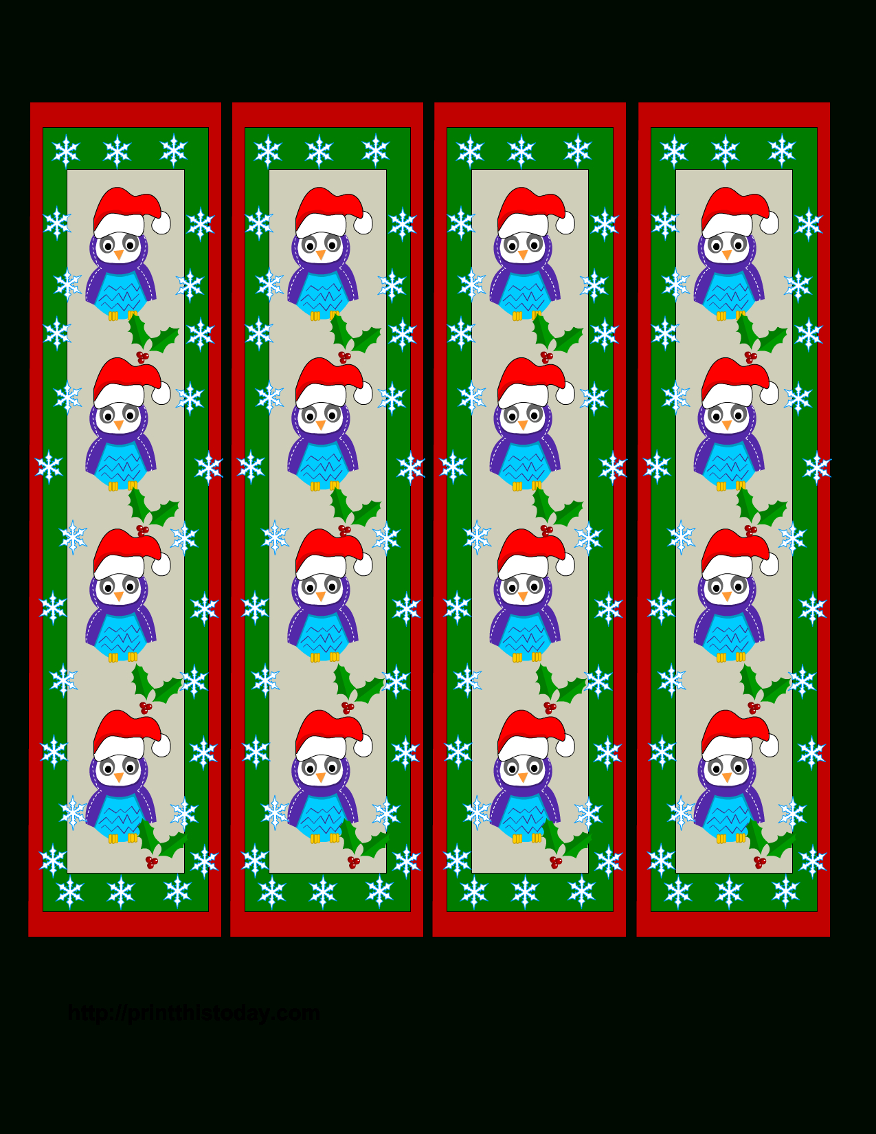 Free Christmas Bookmark Cliparts, Download Free Clip Art, Free Clip - Free Printable Bookmarks For Christmas
