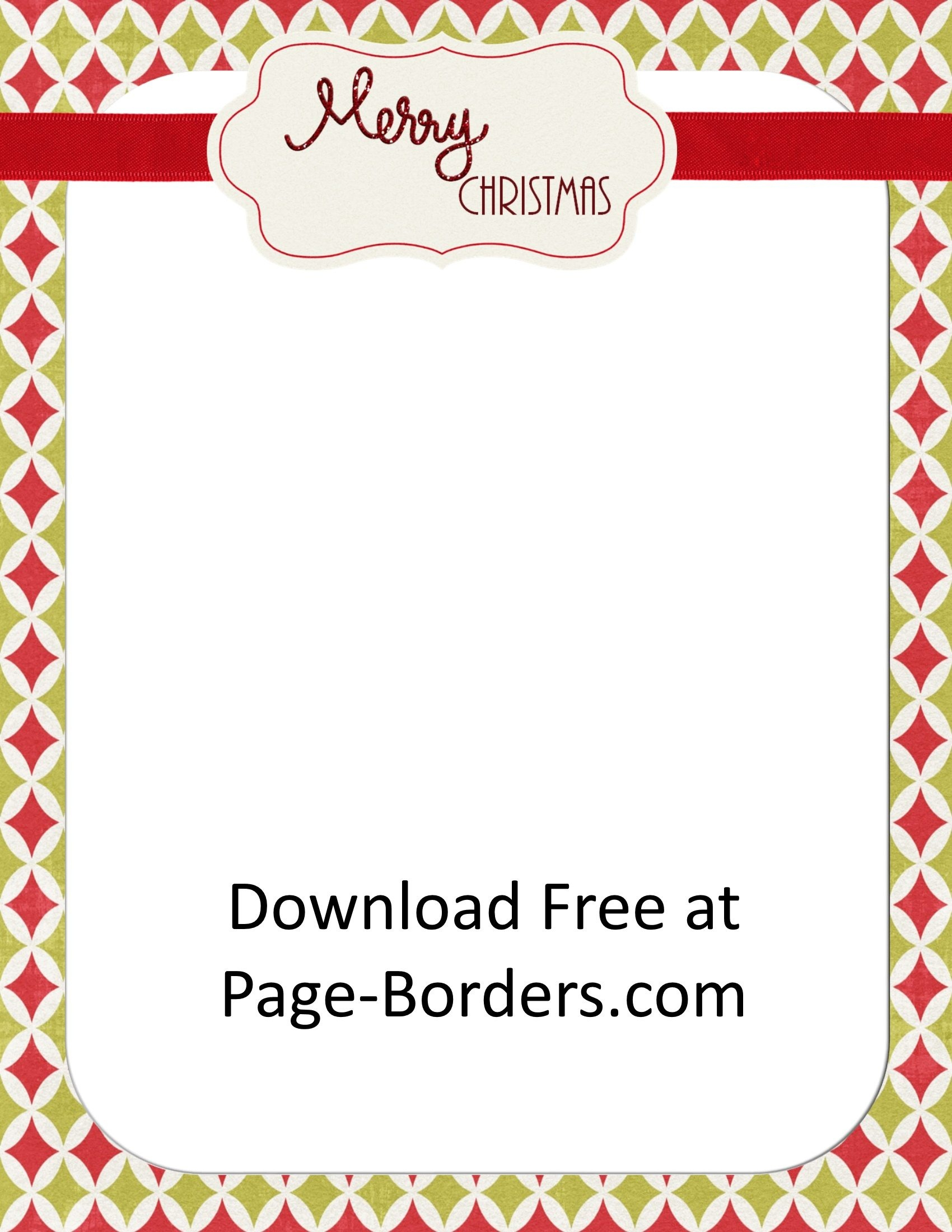 Free Christmas Border   Customize Online   Personal & Commercial Use - Free Printable Christmas Borders