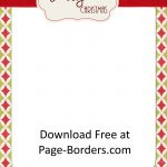 Free Christmas Border | Customize Online | Personal & Commercial Use   Free Printable Christmas Paper With Borders