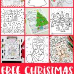 Free Christmas Coloring Pages For Adults And Kids   Happiness Is   Free Printable Christmas Books For Kindergarten