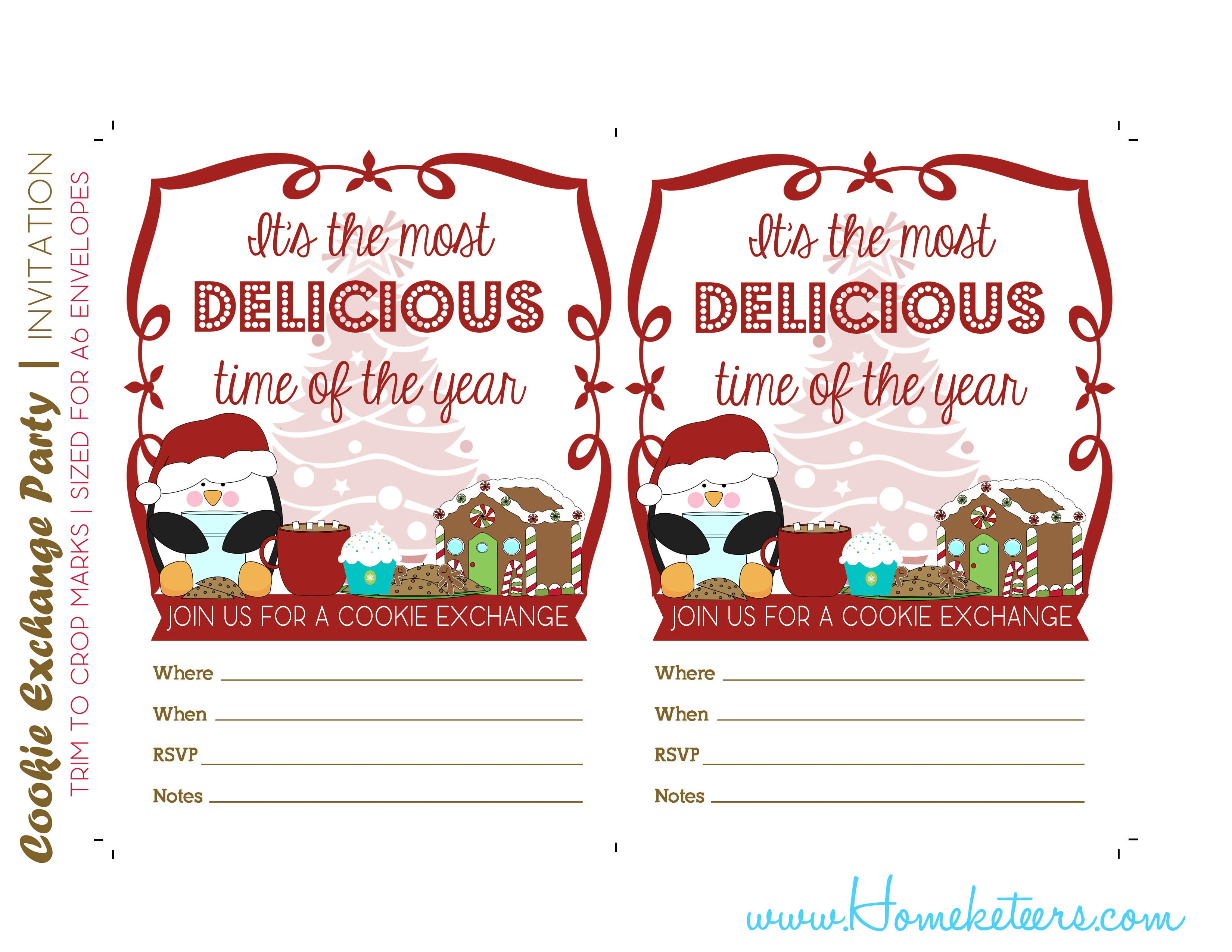 Free Christmas Cookie Exchange Printable Invitation – Festival - Free Christmas Cookie Exchange Printable Invitation
