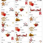 Free Christmas Gift Tag Printable ~ Print Either On Card Stock & Cut   Free Printable Christmas Address Labels Avery 5160