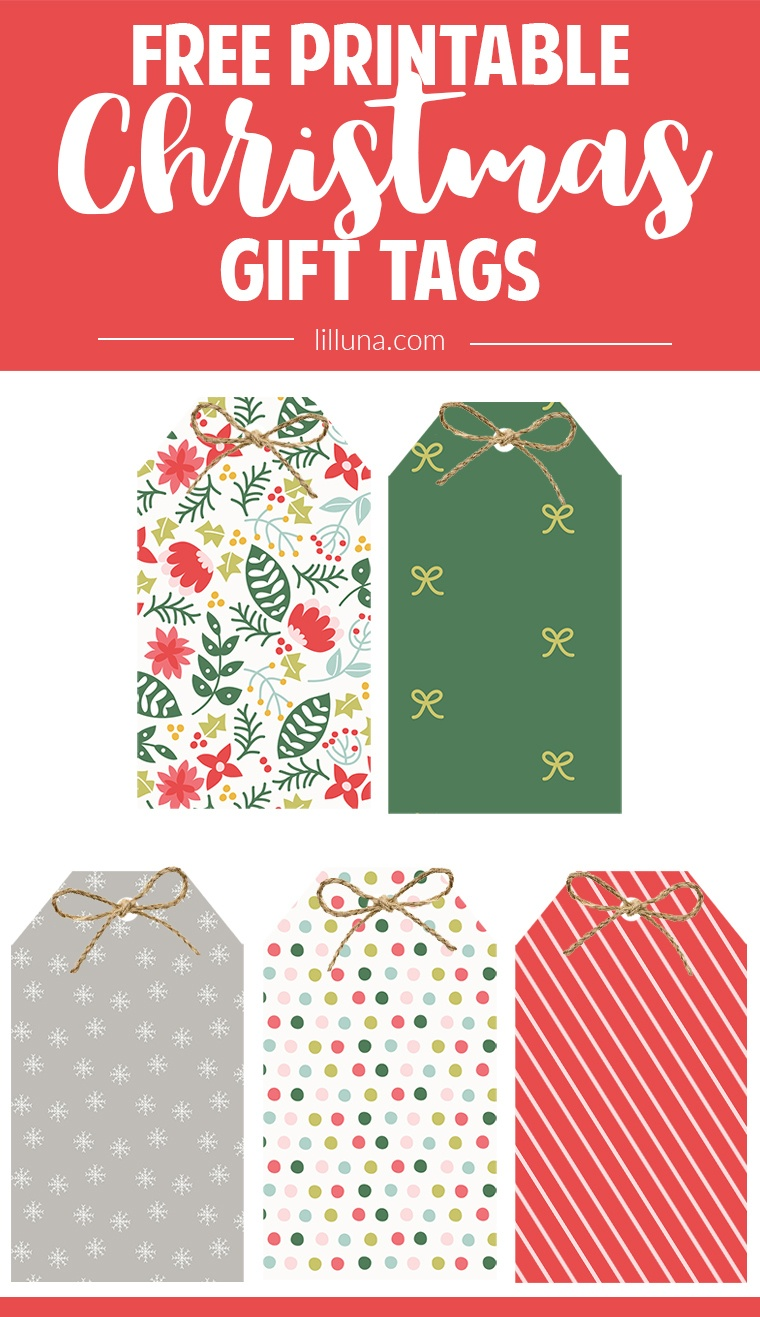 Free Christmas Gift Tags + 2016 Christmas Planner - Lil' Luna - Free Printable Christmas Gift Tags