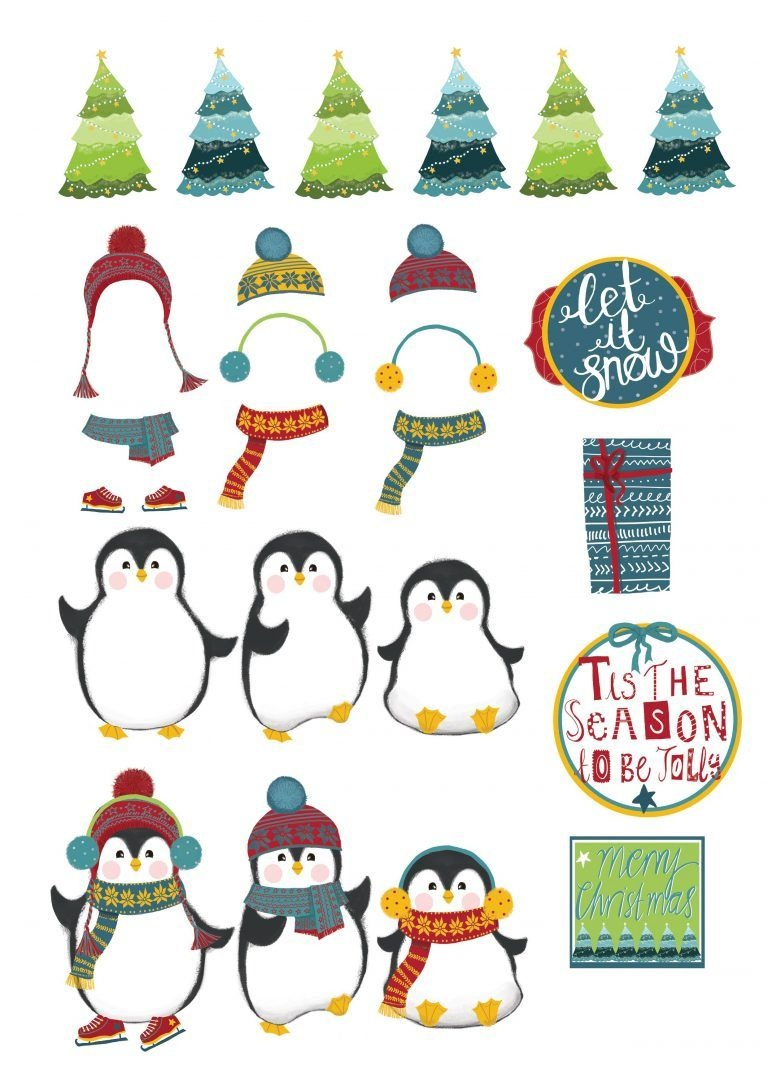 Free Christmas Penguin Printables From Papercraft Inspirations 172 - Free Printable Penguin Template