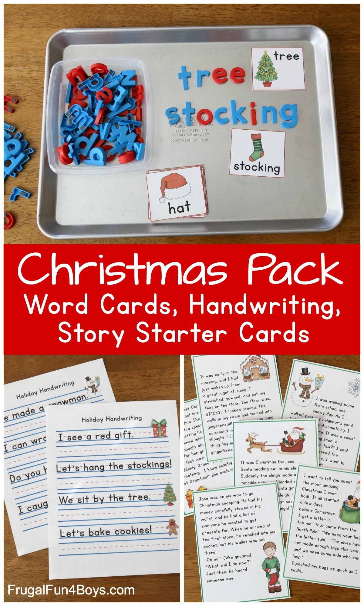 Free Christmas Printable Pack For Kindergarten And First Grade - Free Printable Sensory Stories
