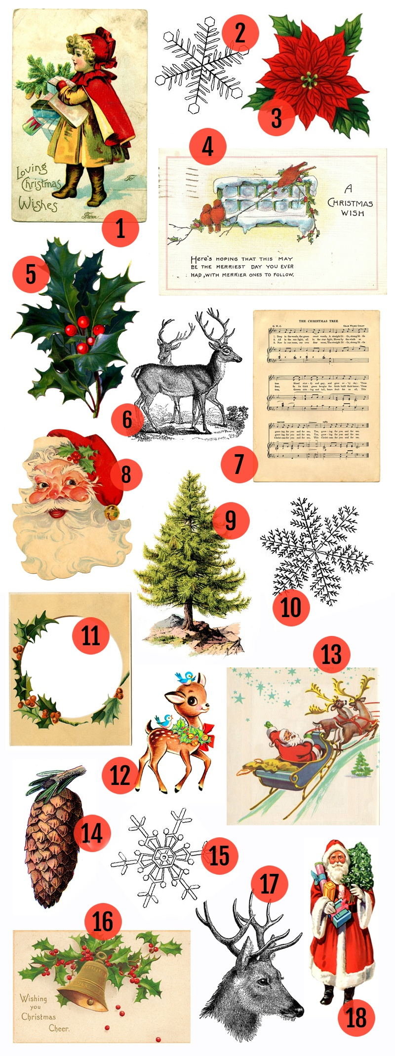 Free Christmas Printable & Vintage Christmas Clip Art » Maggie - Free Printable Vintage Christmas Pictures