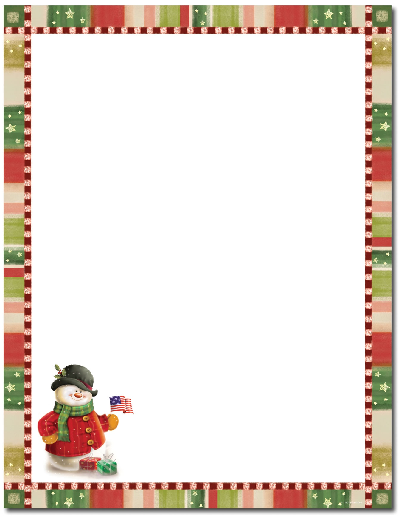 Free Christmas Stationary Cliparts, Download Free Clip Art, Free - Free Printable Christmas Paper With Borders