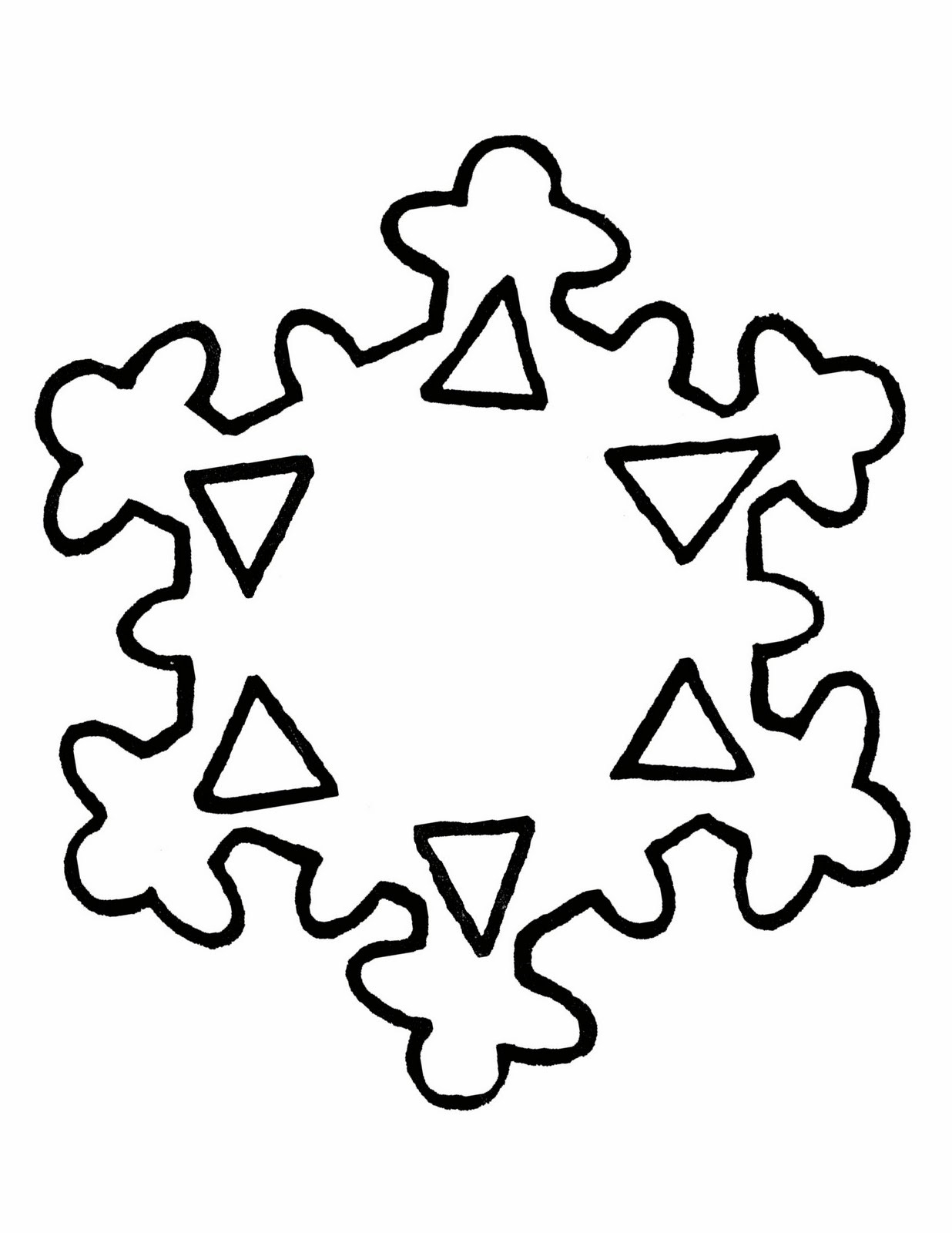 Free Cliparts Snowflake Patterns, Download Free Clip Art, Free Clip - Snowflake Template Free Printable
