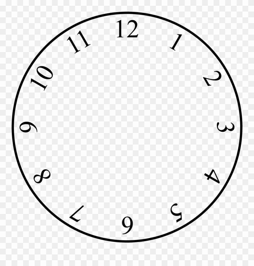 Free Clock Face Template - Clock With No Hands Clipart (#104075 - Free Printable Clock Faces