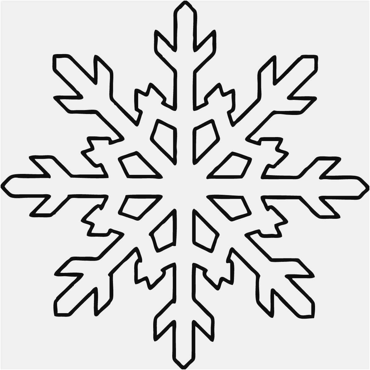 Free Collection 50 Snowflakes Template New | Free Professional - Snowflake Template Free Printable