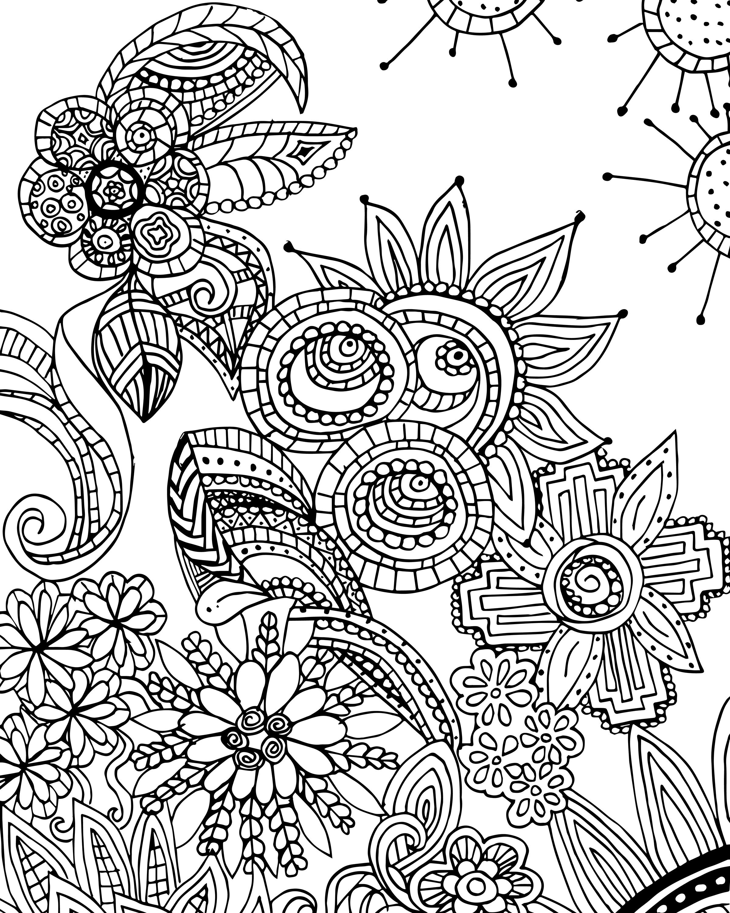 Free Coloring Page For Adults - Flower Zen Doodle Designs | Free - Free Printable Zen Coloring Pages