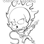 Free Coloring Page Of Chibi Ghostrider. | 48 Best Chibi Fusion   Free Printable Ghost Rider Coloring Pages