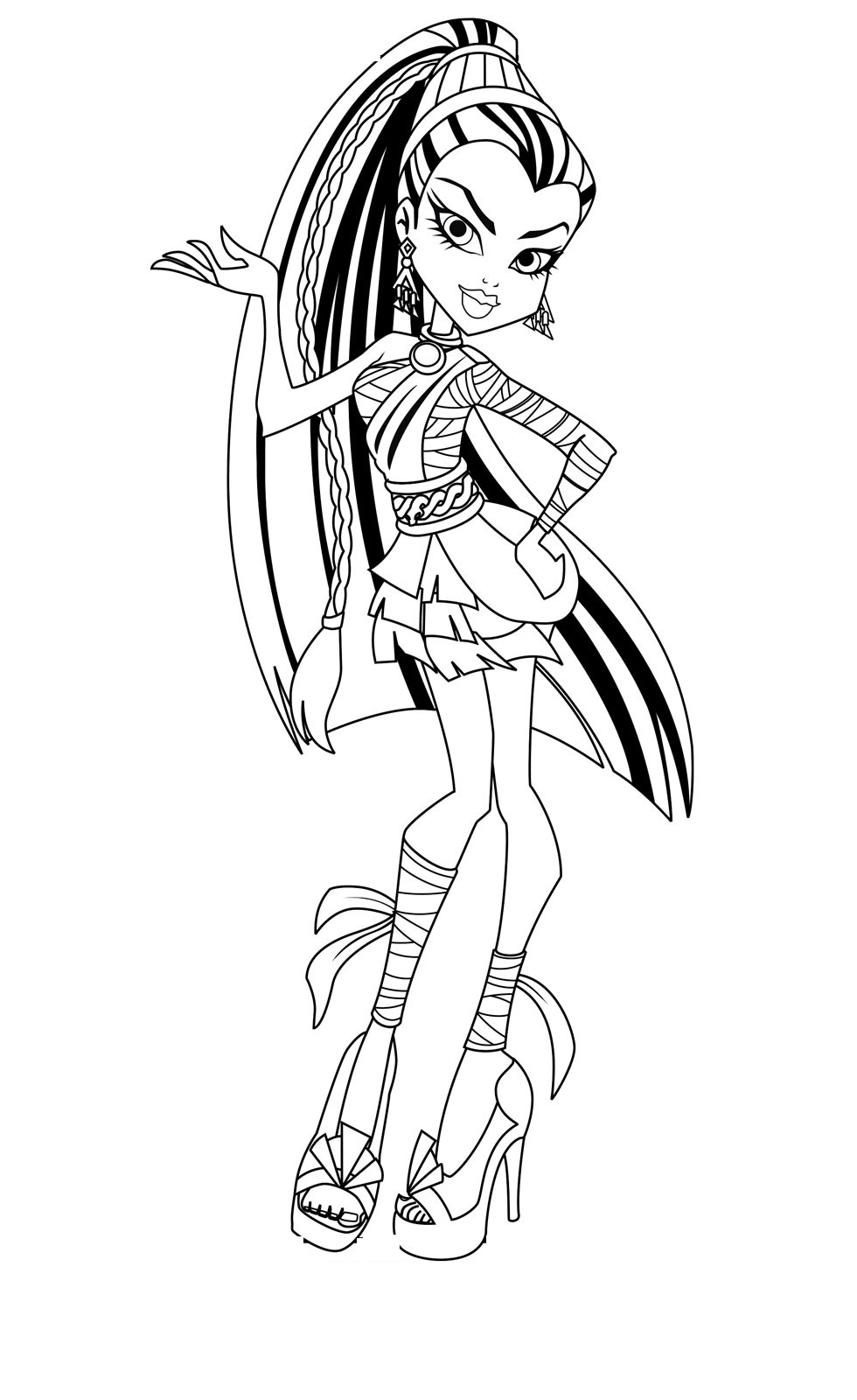 Free Coloring Pages Monster High Free Printable Monster High - Monster High Free Printable Pictures