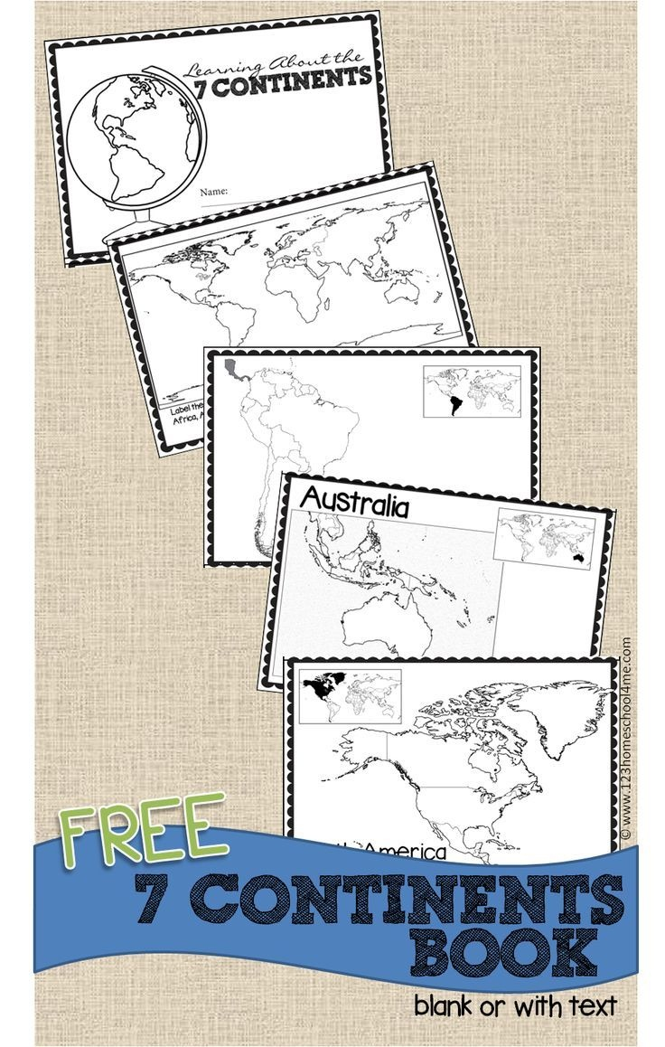Free Continents Book For Kids | Let's Make Learning Fun | 3Rd Grade - Free Printable Books For 5Th Graders