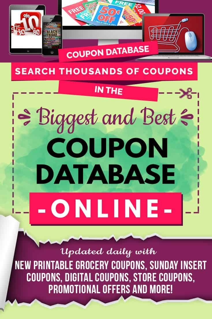 Free Coupon Database Online! Updated Daily With Printable Grocery - Free Printable Grocery Coupons
