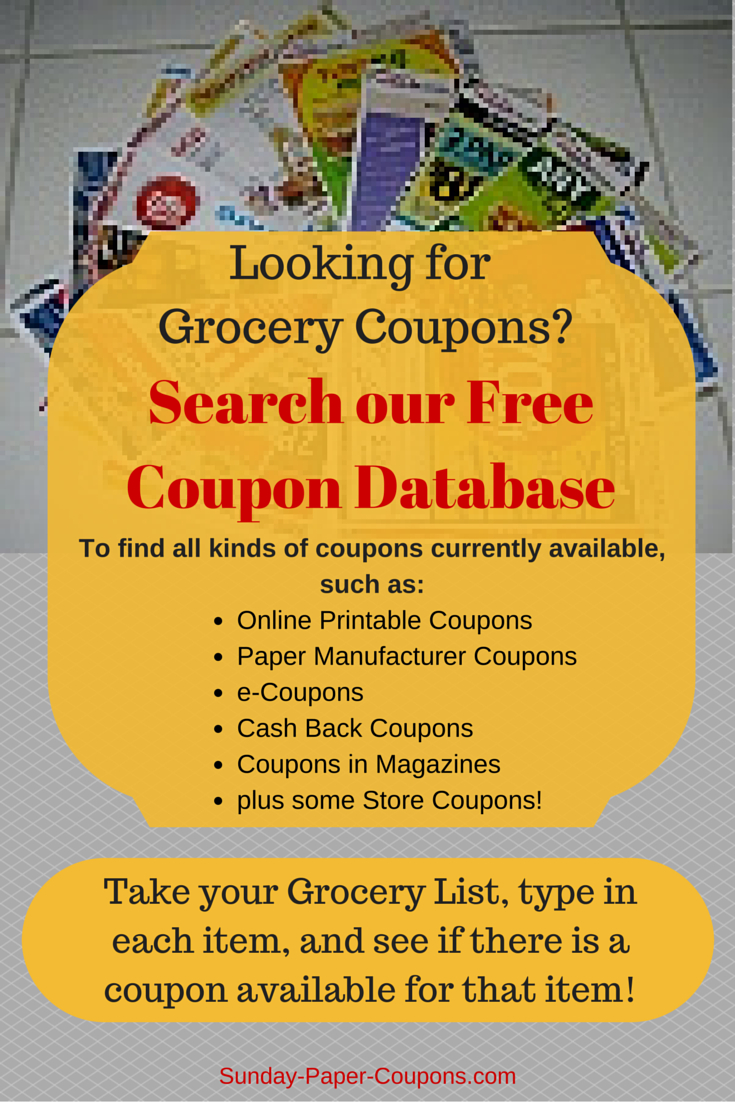 Free Couponsmail   How To Get Coupons In The Mail   Couponing - Free Printable Coupons For Food