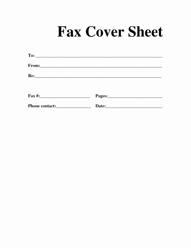Free Cover Letters Template Of Free Printable Fax Cover Letter - Free Printable Cover Letter Templates