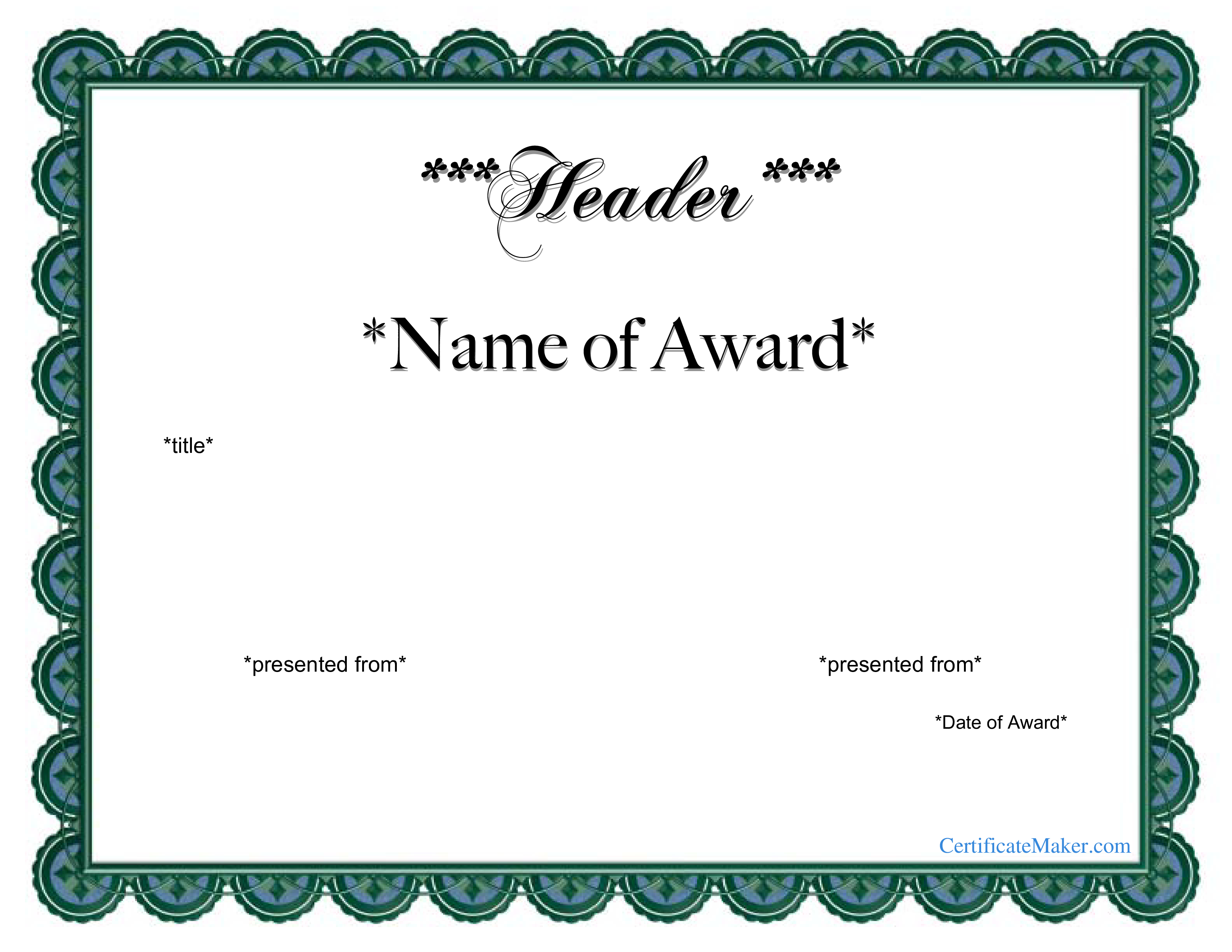 Free Customizable Award Certificates - Demir.iso-Consulting.co - Free Printable Soccer Certificate Templates