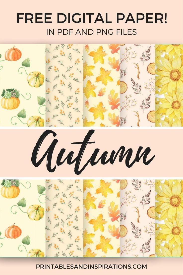 Free Digital Paper For Scrapbooking And More Projects! | Digital - Free Printable Autumn Paper