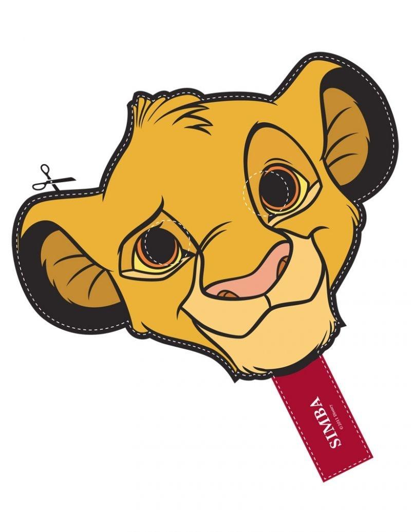 Free Disney Lion King Simba Cut Out Printable Mask #free #printable - Free Printable Lion Mask