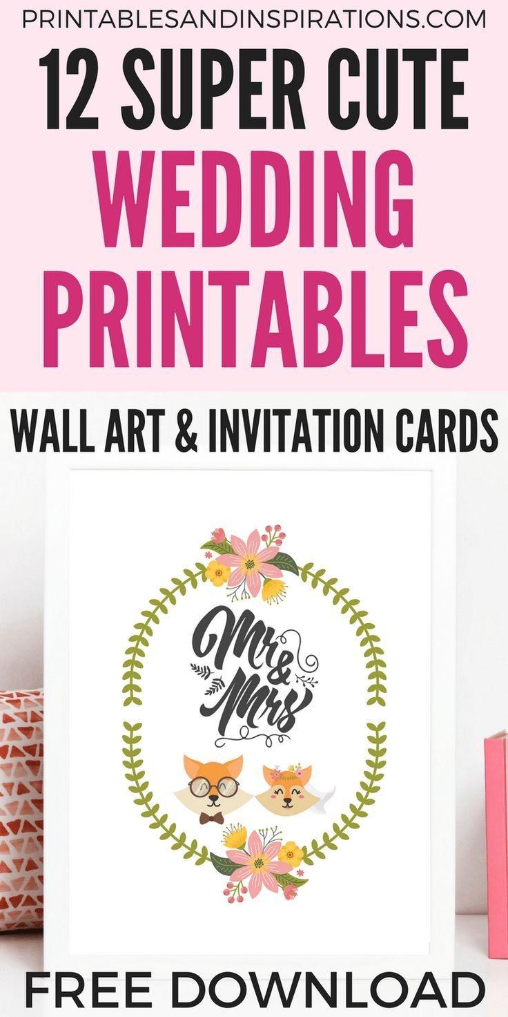 Free Diy Simple Wedding Invitation Cards And Decor | Printables - Free Printable Wedding Decorations