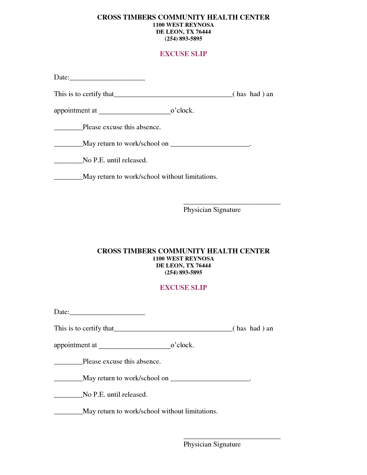 Free Doctors Note Template | Scope Of Work Template | On The Run - Free Printable Doctors Note For Work