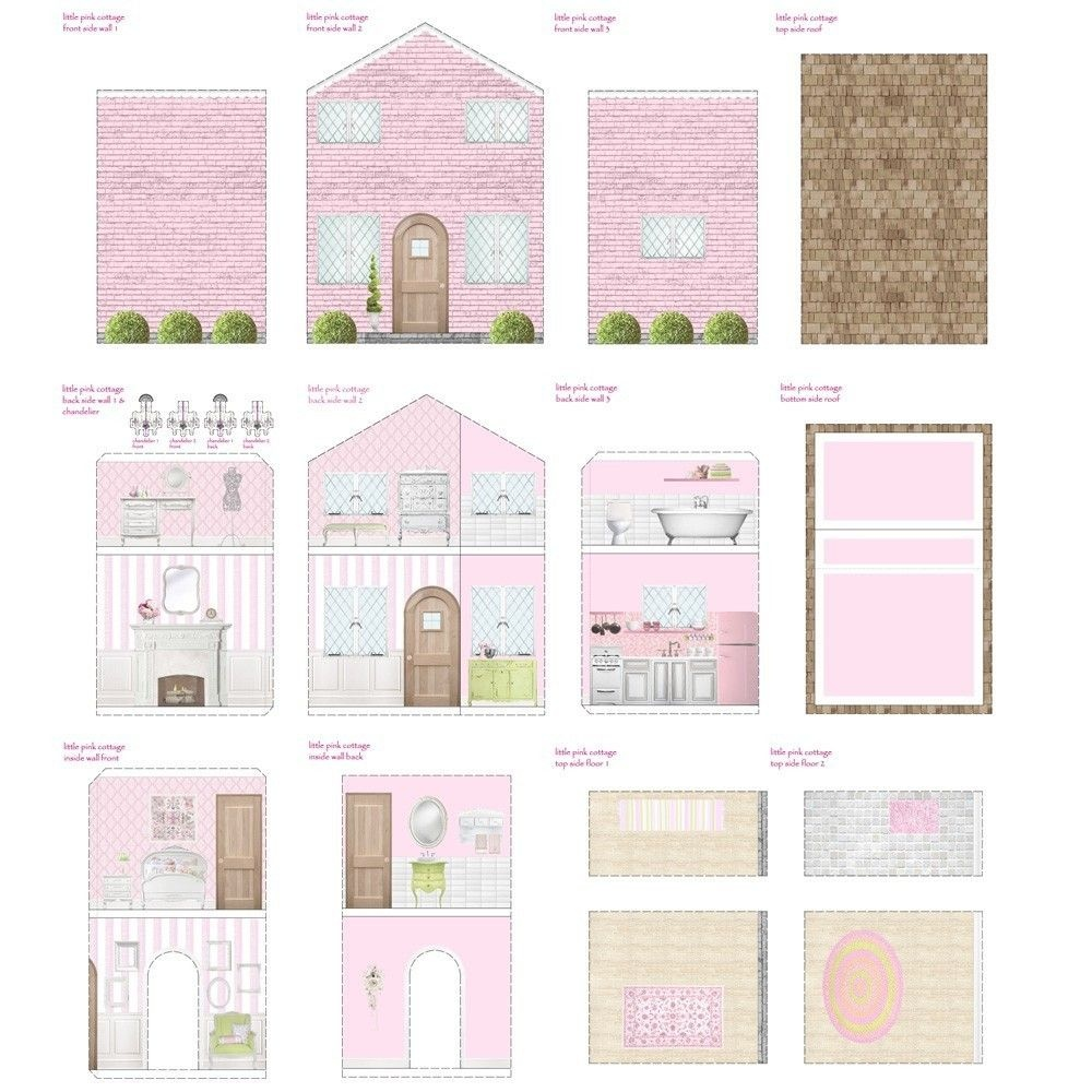 Free Dollhouse Printables   Printable Dollhouse's   Doll House - Free Printable Dollhouse Furniture Patterns