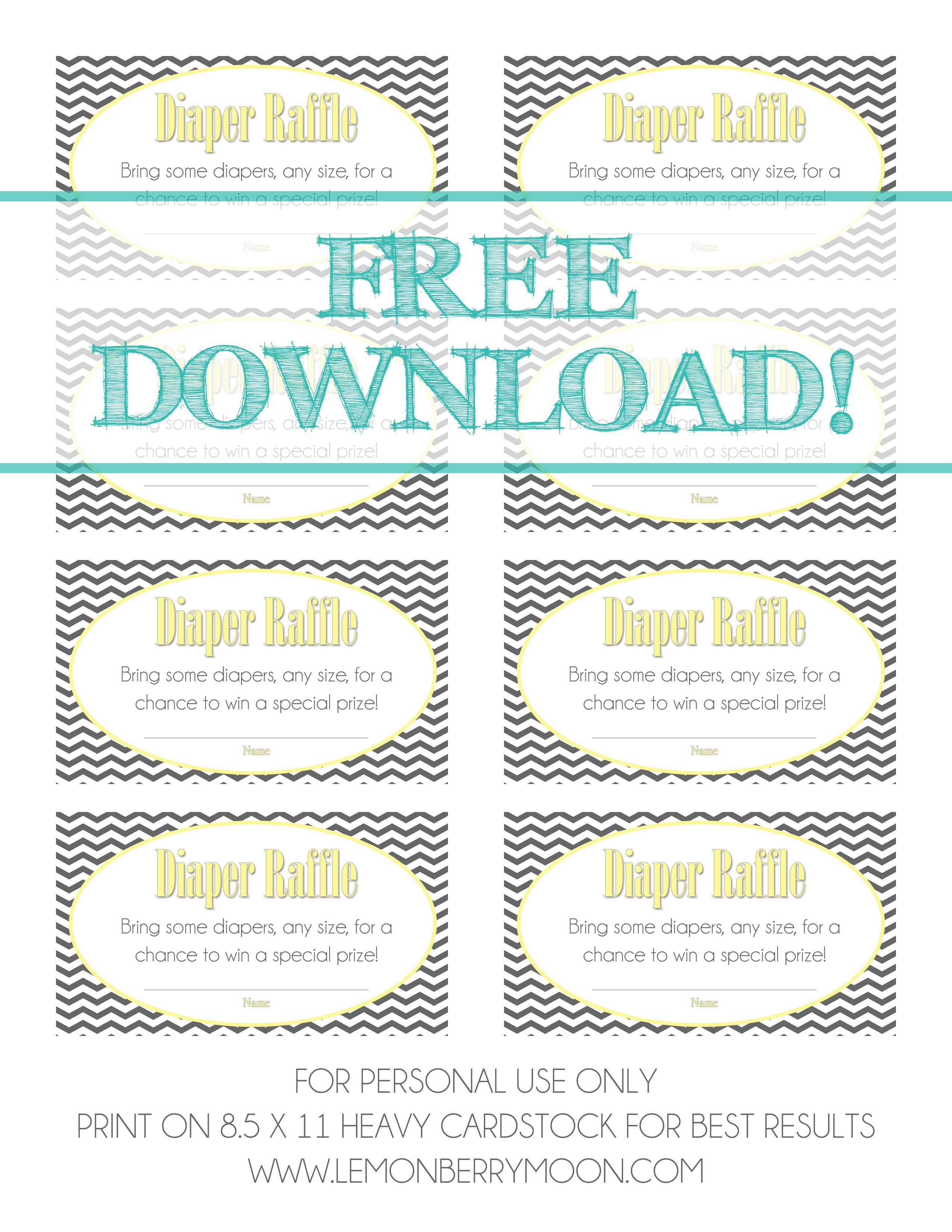 Free Download - Baby Diaper Raffle Template | Baby Boy Shower | Baby - Free Printable Diaper Raffle Ticket Template