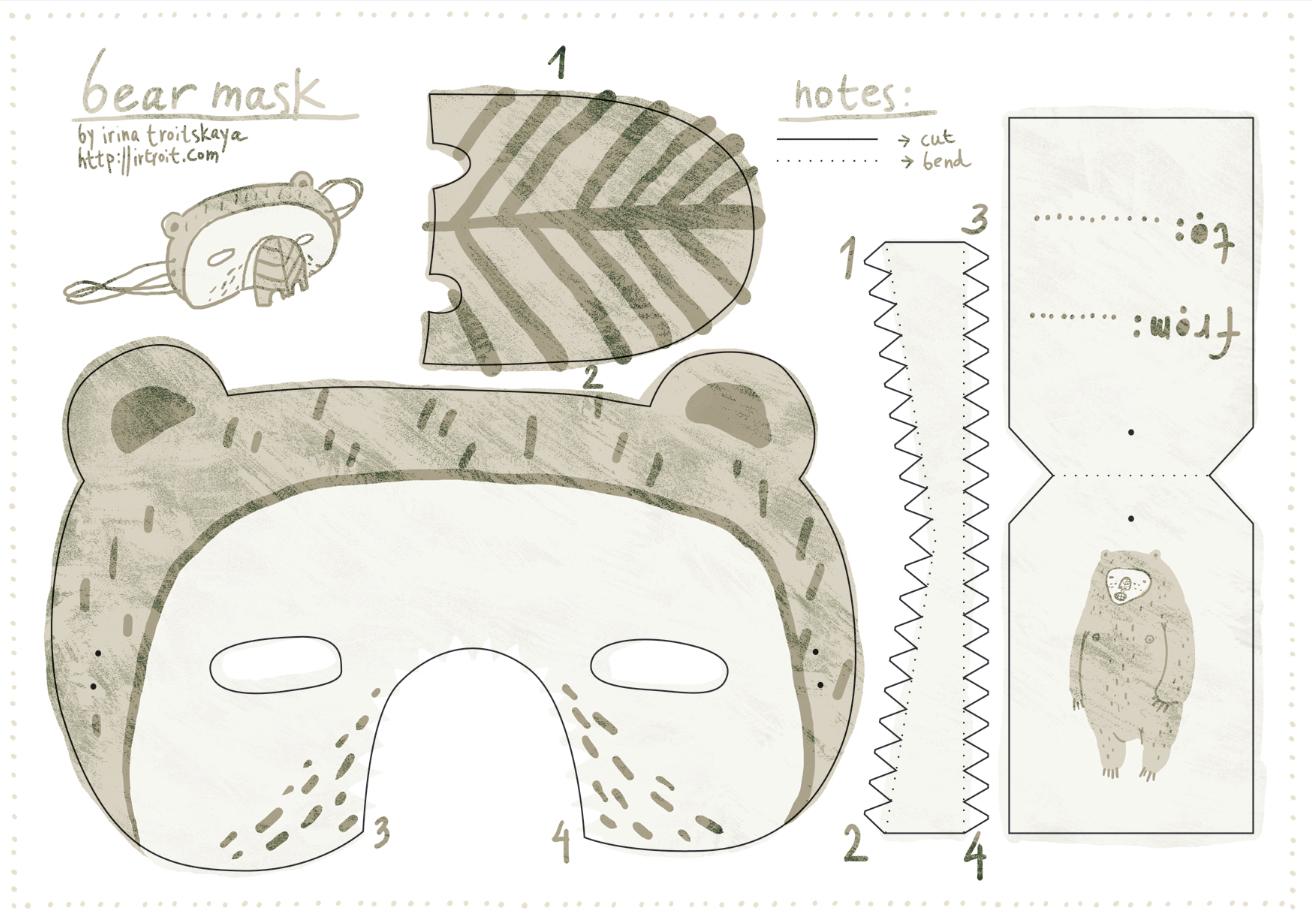 Free Download Bear Mask   Printable Masks For Kids   Bear Mask - Free Printable Bear Mask