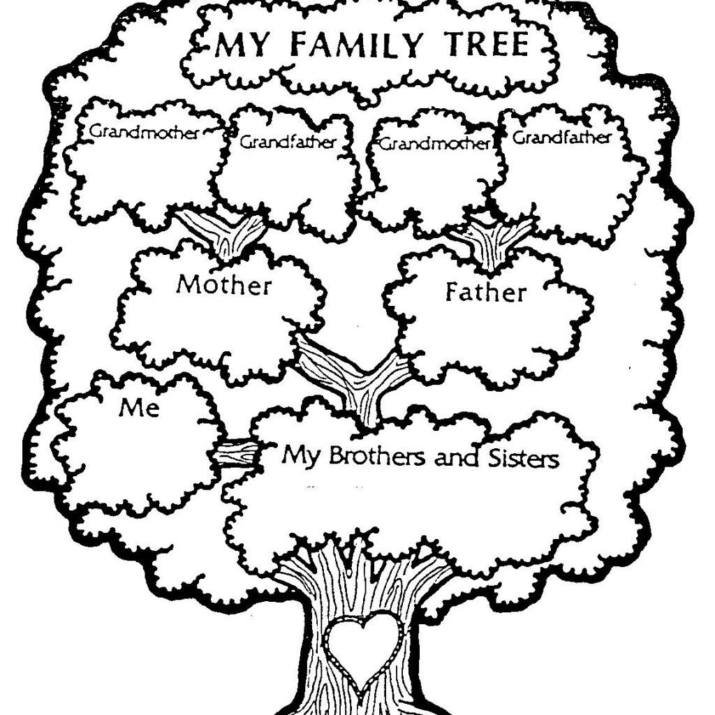 Free Download - Family Tree Coloring Page | Ancestry | Family Tree - My Family Tree Free Printable Worksheets